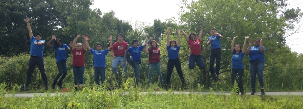 Our 2014 Eggers Woods crew, part of our summer internship program for high school students, the Chicago Conservation Leadership Corps.