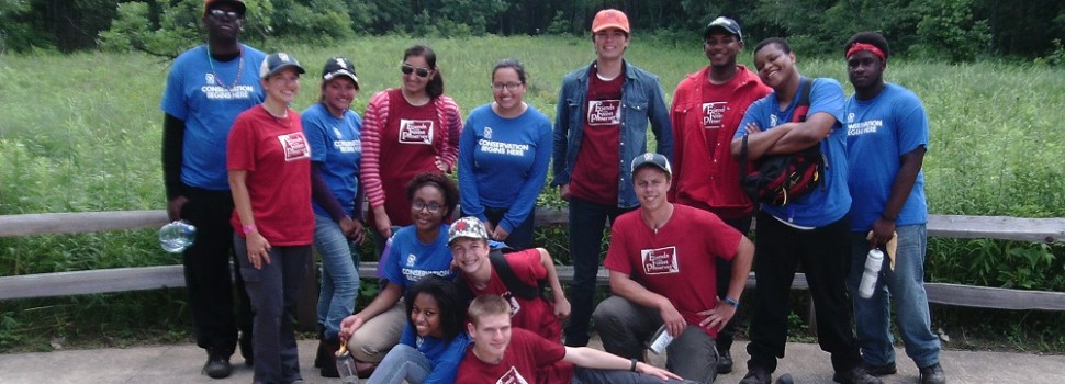 Chicago Conservation Leadership Corps-Dan Ryan/Sand Ridge crew members on their first day.