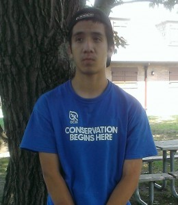 Jose Dondiego, Chicago Conservation Leadership Corps Eggers Grove crew member