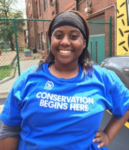 Chicago Conservation Leadership Corps Whistler Woods Crew Member Kyana Harrod