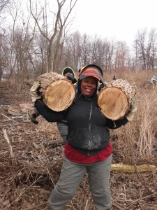 Brenda Elmore, Calumet Invasive Species Conservation Corps Crew Leader.
